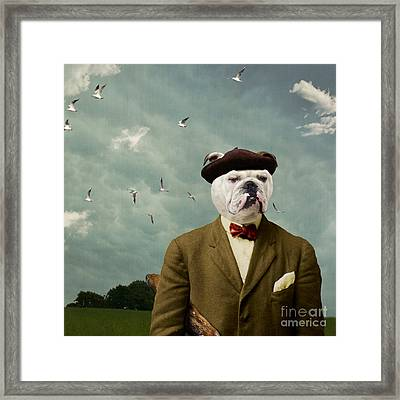 The Grumpy Man Framed Print by Martine Roch