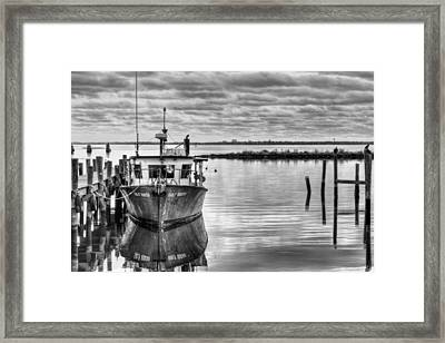The Gulf Queen Bw Framed Print by JC Findley