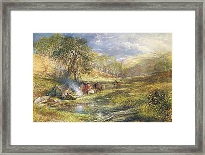 The Gypsy Dell   Moonlight Framed Print by Samuel Palmer