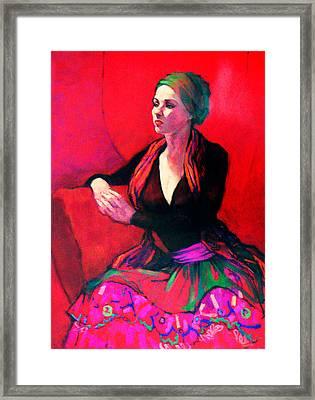 The Gypsy Skirt Framed Print by Roz McQuillan