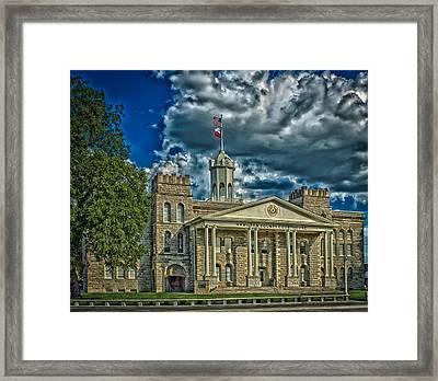 The Hamilton County Courthouse - Texas Framed Print by Mountain Dreams