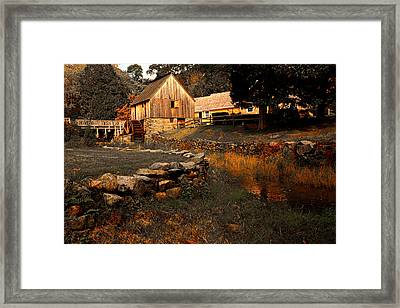 The Hammond Gristmill Framed Print by Lourry Legarde