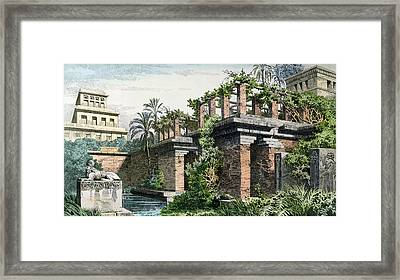 The Hanging Gardens Of Babylon Framed Print by Ferdinand Knab