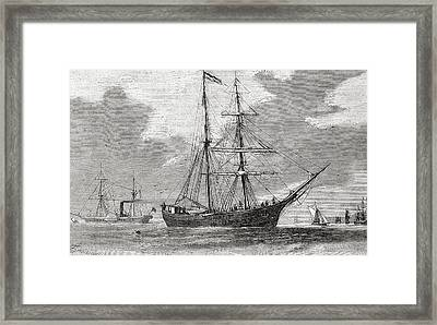 The Hansa. Schooner Which Took Part In Framed Print by Vintage Design Pics