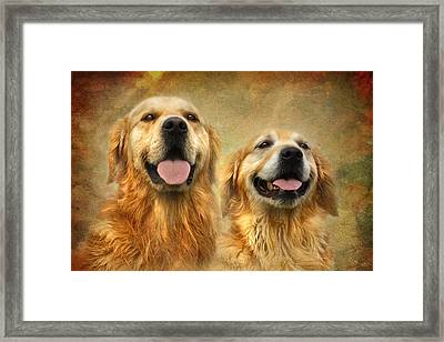 The Happy Couple Framed Print by Trudi Simmonds
