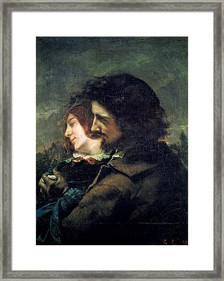 The Happy Lovers Framed Print by Gustave Courbet