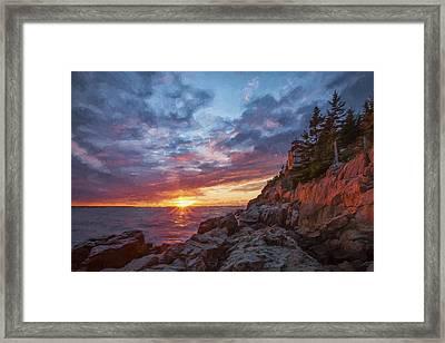 The Harbor Dusk  Iv Framed Print by Jon Glaser