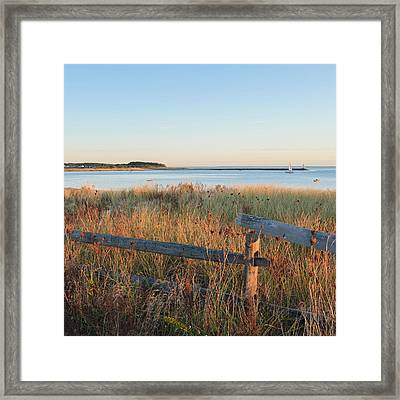 The Harbor Square Framed Print by Bill Wakeley