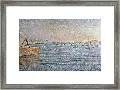 The Harbour At Portrieux Framed Print by Paul Signac