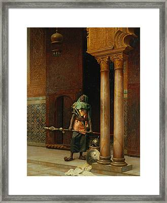 The Harem Guard  Framed Print by Ludwig Deutsch