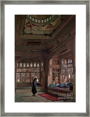 The Harem Of Sheikh Sadat, Cairo, 1870 Framed Print by Frank Dillon