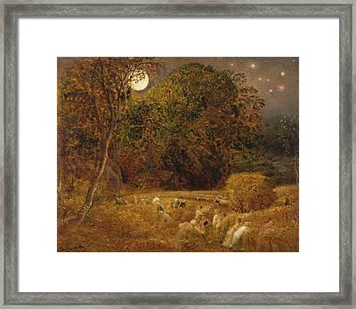 The Harvest Moon Framed Print by Samuel Palmer