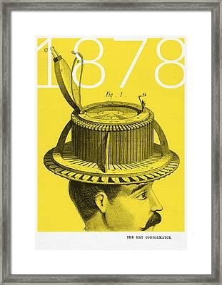 The Hat Conformator Framed Print by Bekare Creative