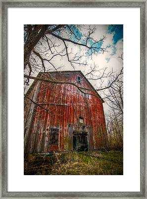 The Haunted Barn Framed Print by Linda Unger