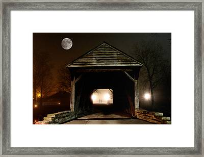 The Haunted Bridge Framed Print by Michael Rucker