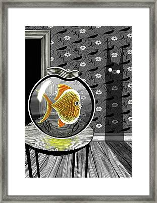 The Haunted Goldfish Bowl  Framed Print by Andrew Hitchen