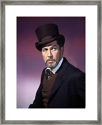 The Haunted Palace, Vincent Price, 1963 Framed Print by Everett