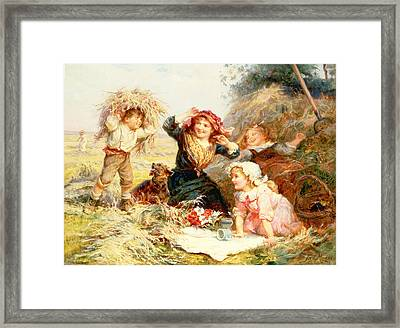 The Haymakers Framed Print by Frederick Morgan