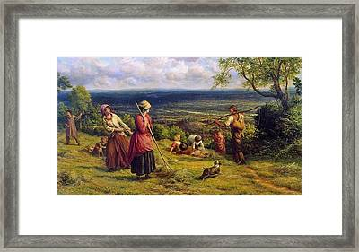 The Haymakers Framed Print by James Thomas