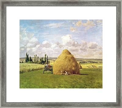 The Haystack Framed Print by Camille Pissarro