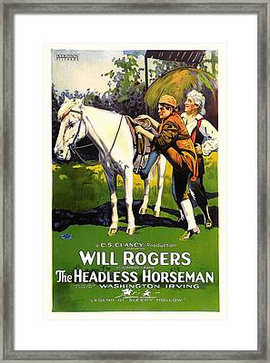 The Headless Horseman 1922 Framed Print by Mountain Dreams