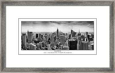 The Heart Of New York Poster Print Framed Print by Az Jackson