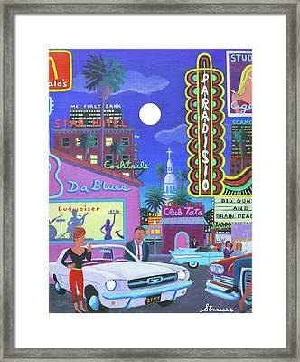 The Heart Of Saturday Night Framed Print by Frank Strasser
