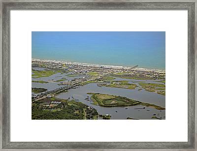 The Heart Of Topsail Island Framed Print by Betsy C Knapp