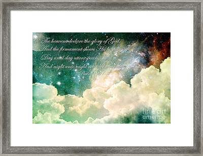 The Heavens Declare Framed Print by Stephanie Frey