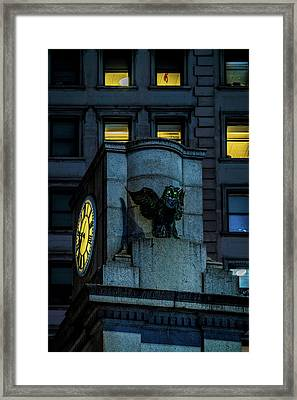 The Herald Square Owl Framed Print by Chris Lord