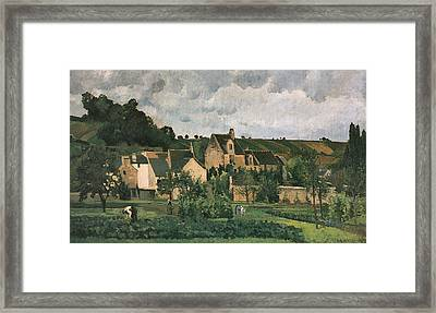 The Hermitage At Pontoise Framed Print by Camille Pissarro