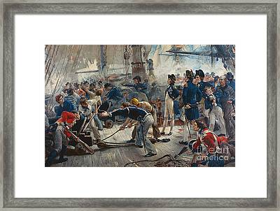 The Hero Of Trafalgar Framed Print by William Heysham Overend