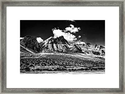 The High Andes Monochrome Framed Print by Steve Harrington