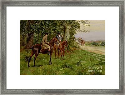The Highwaymen Framed Print by George Derville Rowlandson