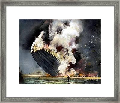 The Hindenburg, 1937 Framed Print by Granger