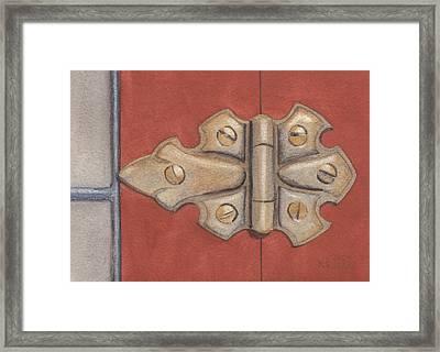 The Hinge Framed Print by Ken Powers