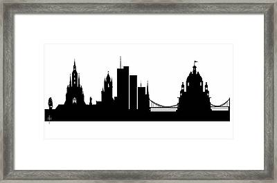 The Historical City - Silhouettes  Framed Print by Daniel  Arrhakis