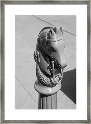 The Hitching Post Framed Print by Rob Hans