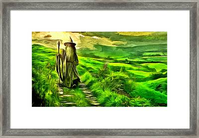 The Hobbit - Da Framed Print by Leonardo Digenio