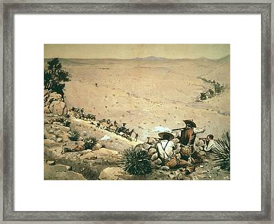 The Hold Up Framed Print by Frederic Remington
