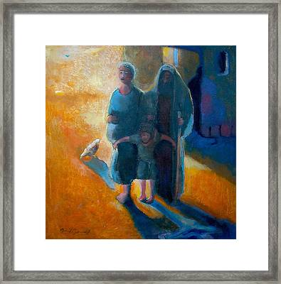 The Holy Family Framed Print by Daniel Bonnell