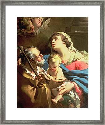 The Holy Family Framed Print by Gaetano Gandolfi