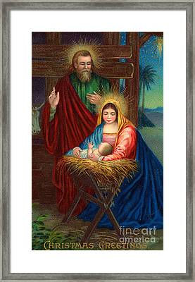 The Holy Family With The Christ Child Framed Print by American School