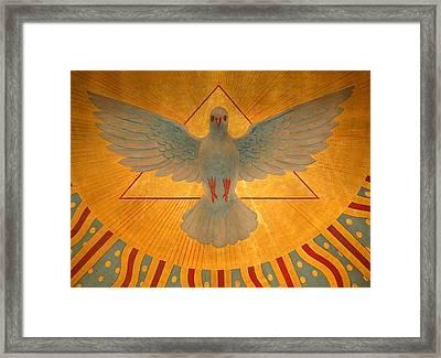 The Holy Spirit Framed Print by American School