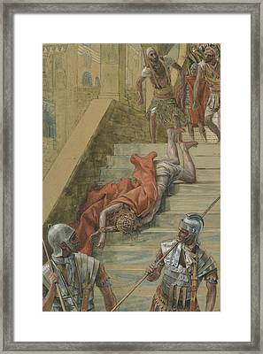 The Holy Stair Framed Print by Tissot