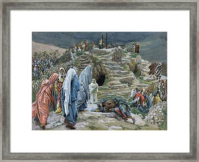 The Holy Women Stand Far Off Beholding What Is Done Framed Print by James Jacques Joseph Tissot