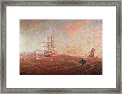 The Home Port, Falmouth Framed Print by William Ayerst Ingram