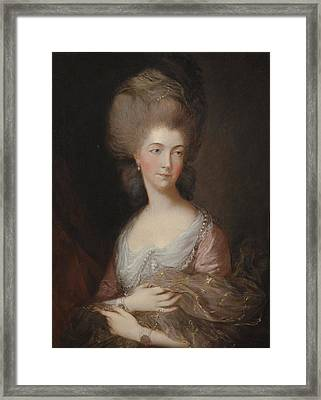 The Hon Mrs Anna Luttrell Duchess Of Cumberland  Framed Print by Celestial Images