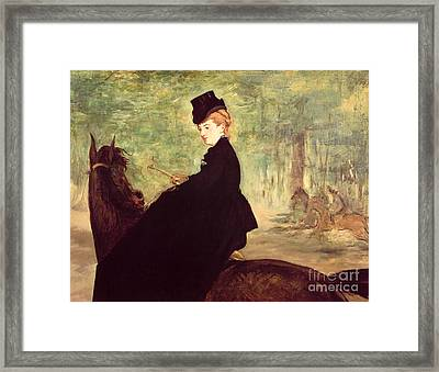 The Horsewoman Framed Print by Edouard Manet