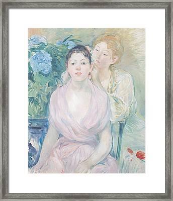 The Hortensia Framed Print by Berthe Morisot